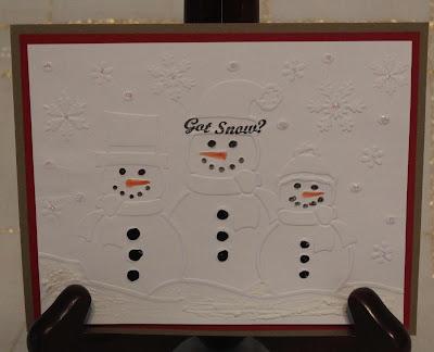 Created By Sunshine HoneyBee Got Snow Snowmen Christmas Card