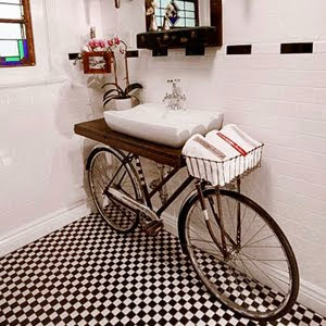 Unique Bicycle Bathroom