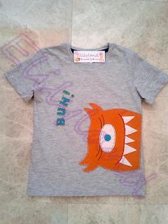 Camiseta Niño Fieltro Monstruo
