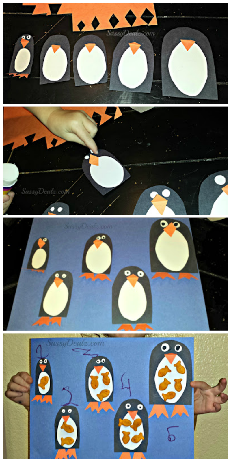 penguin goldfish craft