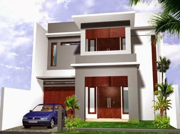gambar teras rumah minimalis 2 lantai dan balkon cantik