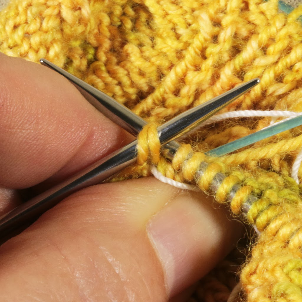 Knit 2 Stitches Together Through Back Loop : Prairie Willow Knits: Closing the Gusset Corner Gap with a K2Tog TBL Pickup