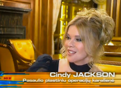 Plastic surgery expert Cindy Jackson on Lithuanian TV