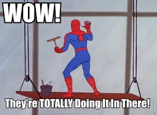 funny spiderman doing it