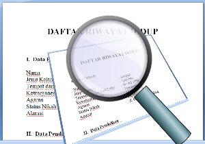 Contoh Daftar Riwayat Hidup CV (Curriculum Vitae)