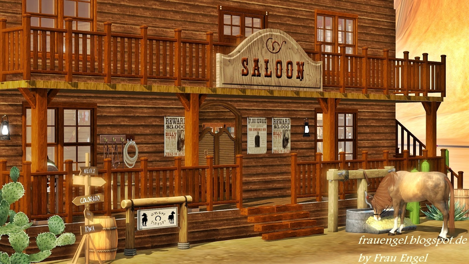 My Sims 3 Blog Saloon In The Wild West By Frau Engel