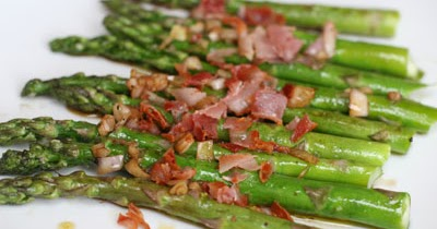 ... : Grilled Asparagus in Pancetta – Shallot Vinaigrette Recipe