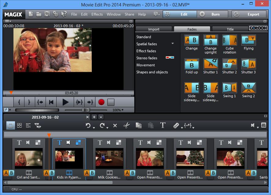 تحميل برنامج تحرير وإنشاء الفيديوهات الأحترافي MAGIX Movie Edit Pro 2014