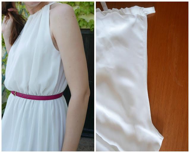 Costura de sisa de vestido
