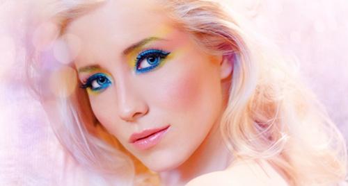 Maquillaje para cumpleaños de colores