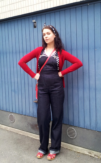 40s style dungarees by Cherise