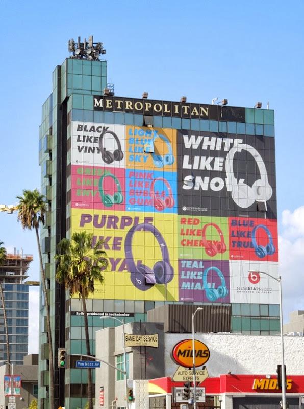 New Beats Solo headphones billboard