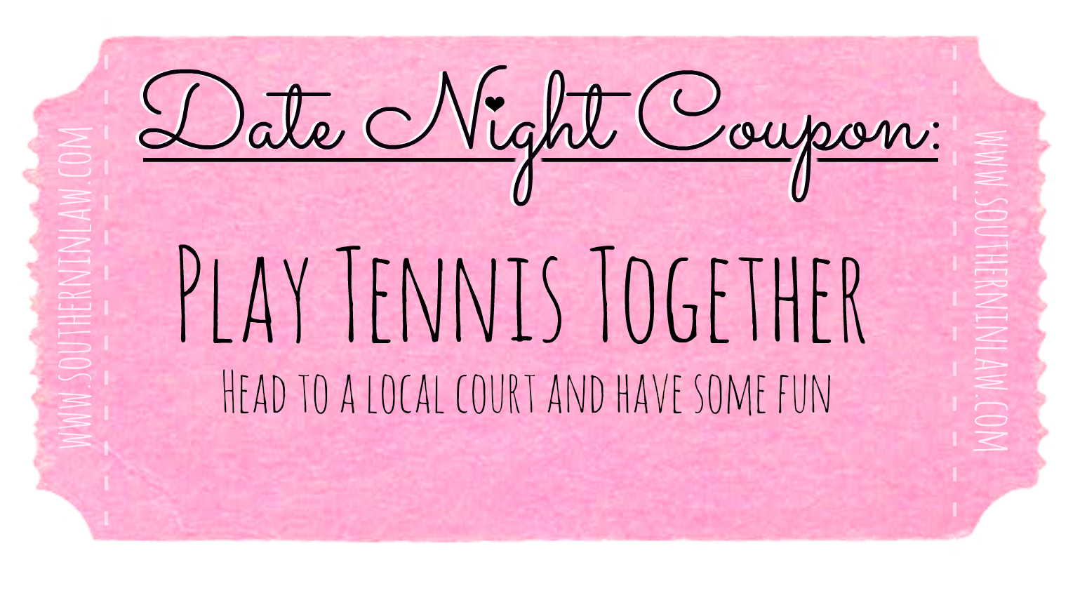 Affordable Date Ideas - Date Night Coupons - Play Tennis Together