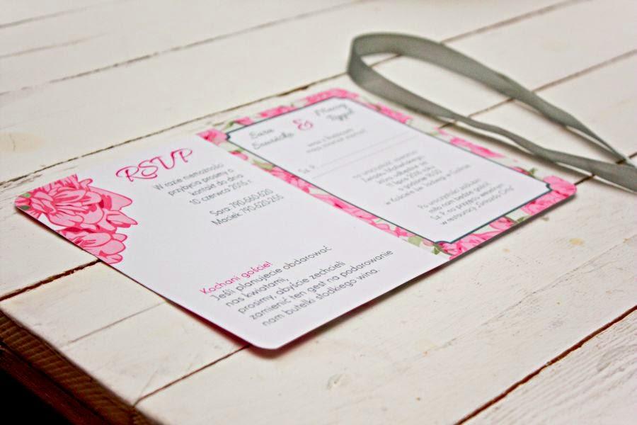 zaproszenia ślubne w kwiaty