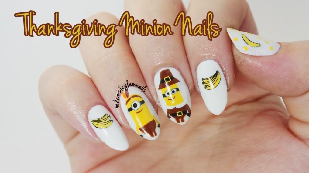 Nails Art Video Tutorial Minion Nail Tutorial Despicable Me