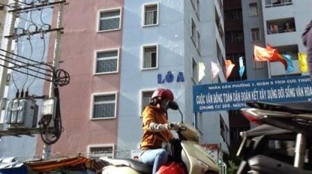Chung cư Nguyễn Biểu nơi xảy ra tai nạn (ảnh: Internet)