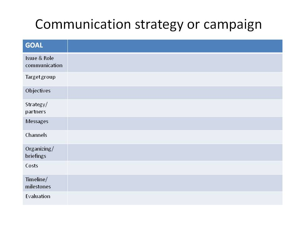 internal comms strategy template - communication strategy template playbestonlinegames