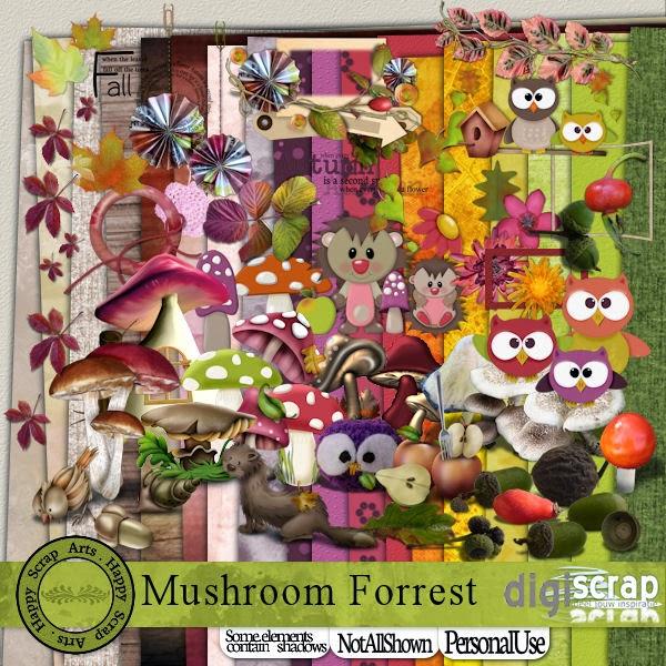 Happy Scrap Arts :: HSA Mushroom Forrest