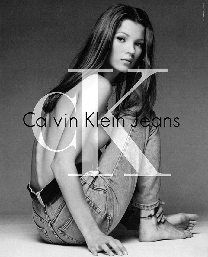Kate Moss photographed by Herb Ritts for Calvin Klein Jeans 1993 campaign / fashioned by love