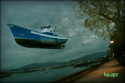 barco en el cielo de hondarribia