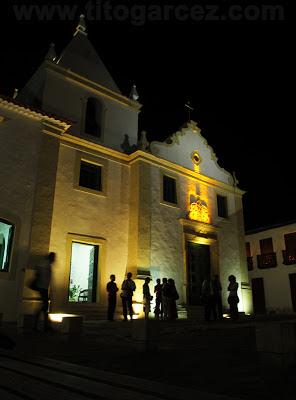 Iluminação cênica da fachada frontal da Igreja da Misericórdia, em São Cristóvão - Sergipe