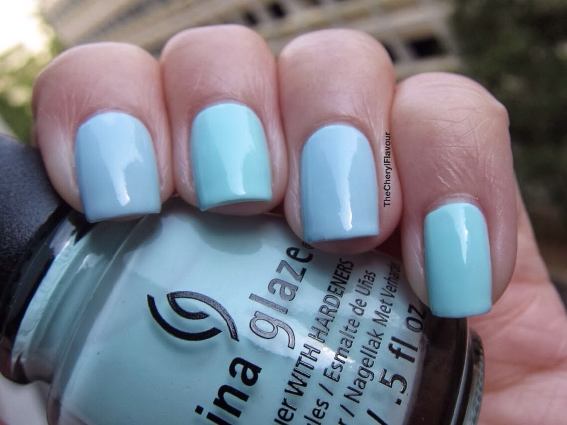 China Glaze At Vase Value vs Essie Borrowed & Blue