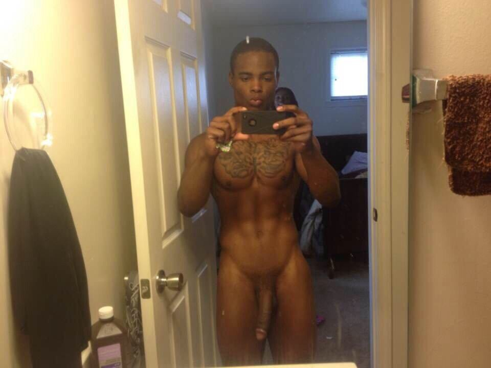 black guy nude in shower