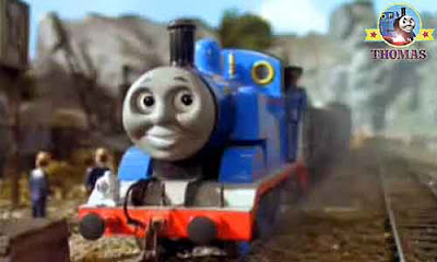 Old warrior ghost travels around a mine hunting playing a ghostly trick Thomas the tank engine Toby