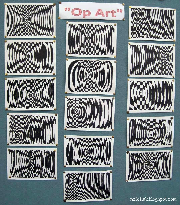 Line Art Projects Middle School : Nefotlak op art lesson
