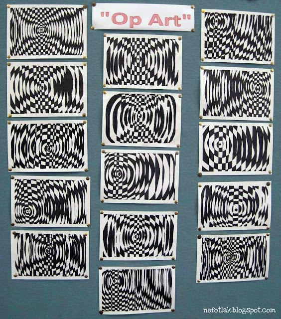 Op Art Line Design Lesson : Nefotlak op art lesson