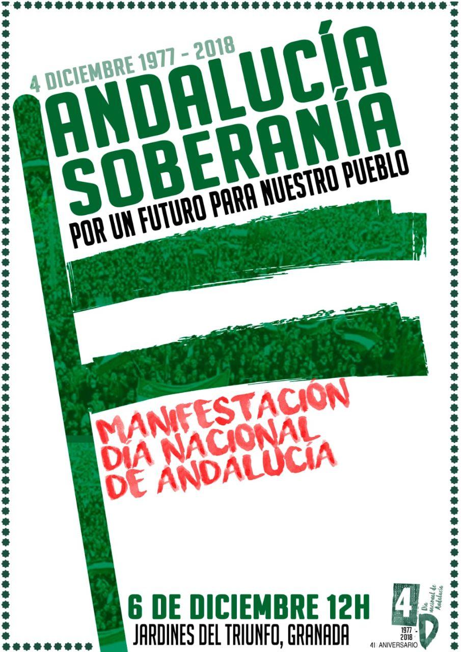 MANIFESTACIÓN JUEVES 6 DE DICIEMBRE EN GRANADA POR EL4D DÍA NACIONAL DE ANDALUCÍA.