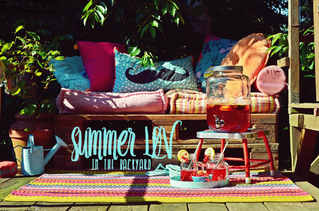 luzia pimpinella | DIY | summerlove: teenager chill-out lounge im garten mit früchte eistee