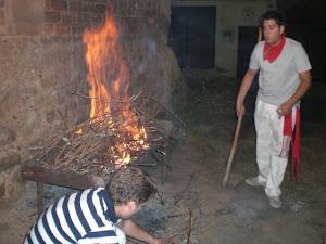 Preparando el asado