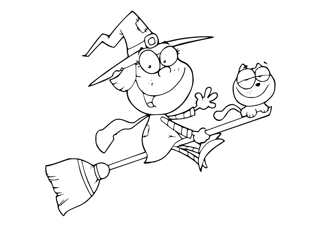 Halloween witches for coloring part 1 - Dibujos de halloween ...