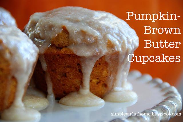 Simple Girl: Pumpkin Brown Butter Cupcakes