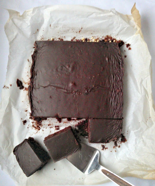 frosted chocolate traybake