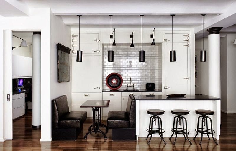 5. Brilliant black and white kitchen design