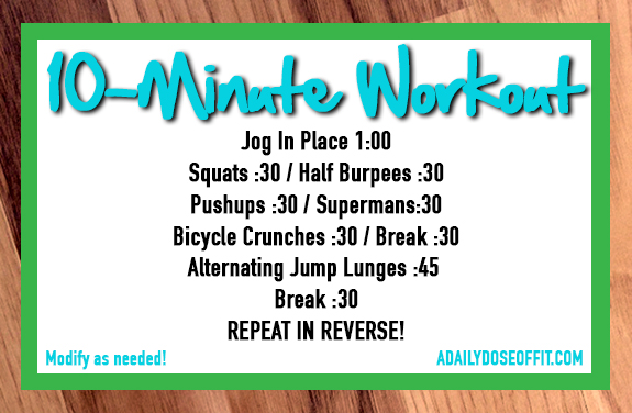 A quick workout that doesn't require any equipment.