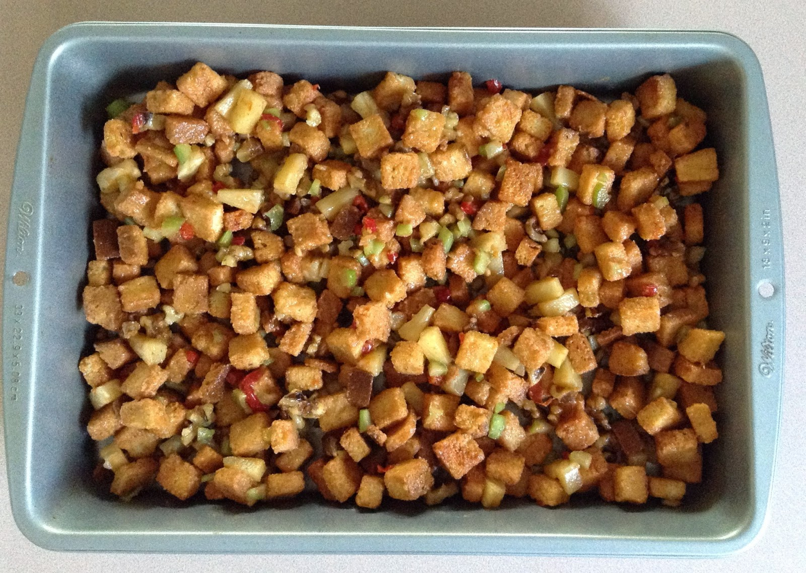 pineapple nut stuffing - baked