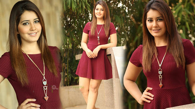 Rashi Khannna Latest Photos At in Maroon Skirt
