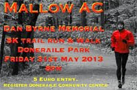 Fri 31st May...Doneraile 5k...Voted best 5k in Cork in 2012
