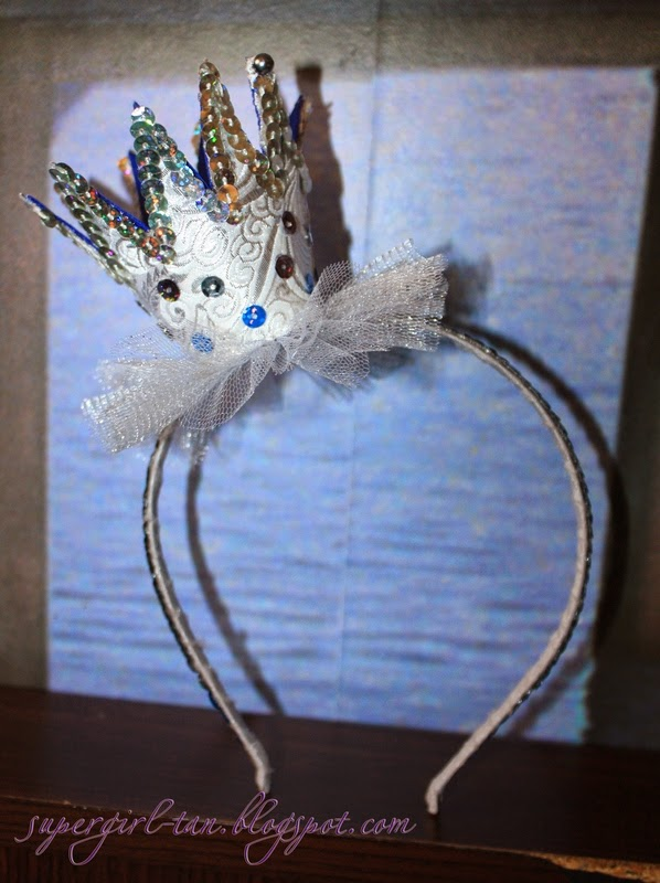 корона из фетра на ободке