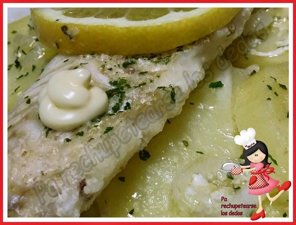 Pa rechupetearse los dedos rosada con patatas en microondas - Cocinar pescado en microondas ...