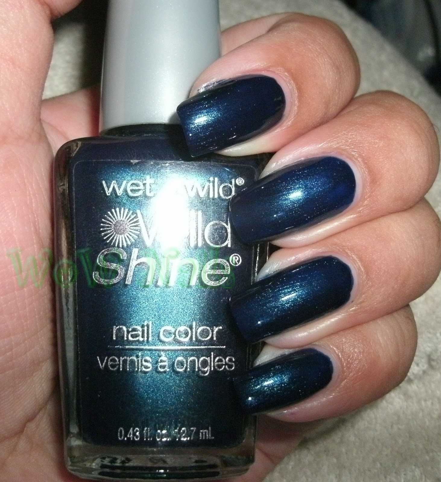 WoW Nails: Back with Wet n Wild, Wild Shine in Blue Moon