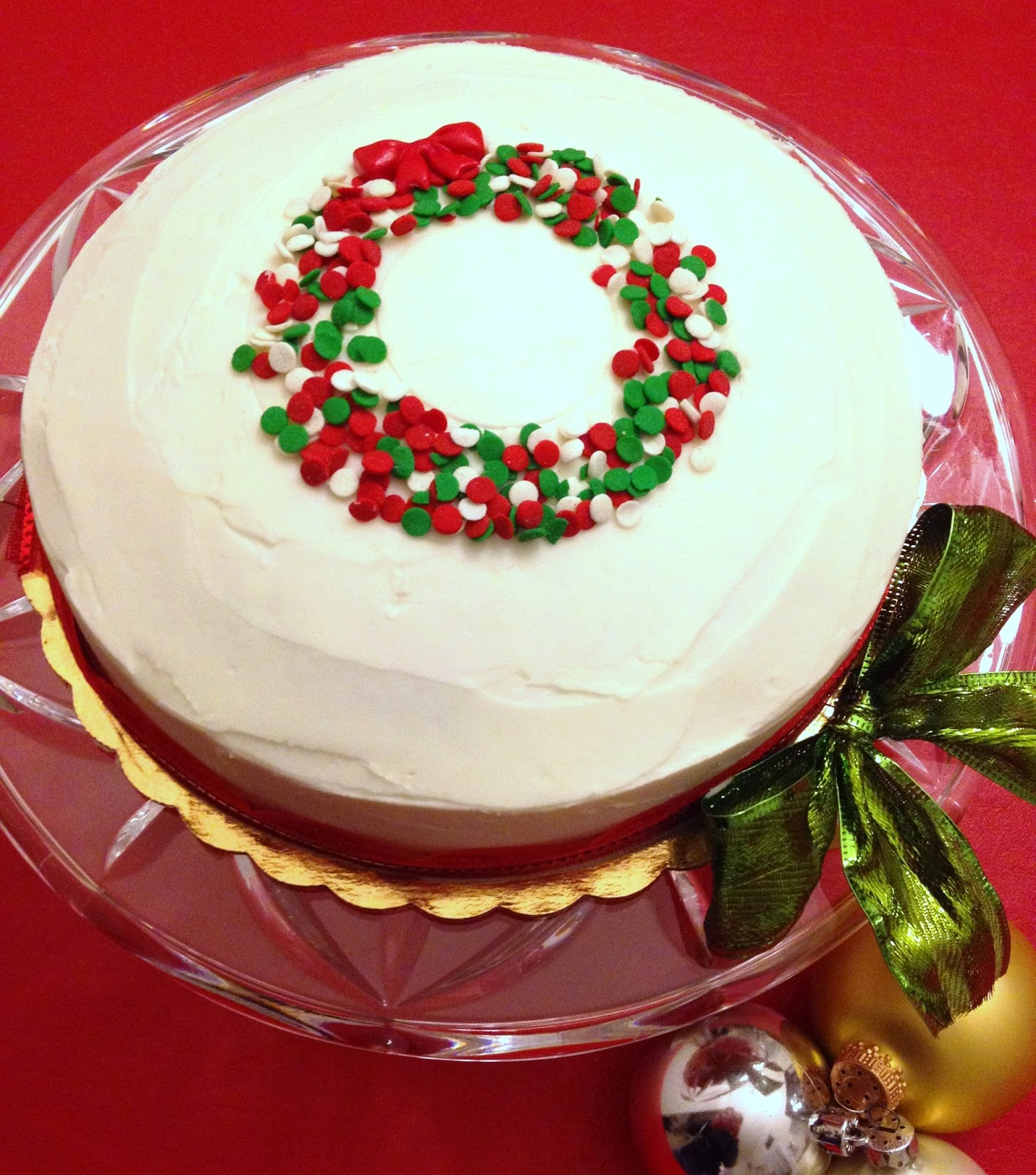 Simple Christmas Cake Images : Cake Talk: Cute & EASY Christmas Cake!