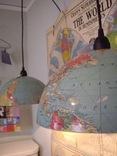 Globus als Pendelleuchte - einfach zum Selbermachen