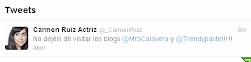 A la actriz Carmen Ruiz le gusta Trendy Pastel y María Calavera Blog!