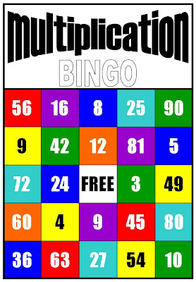 Monster image with multiplication bingo printable