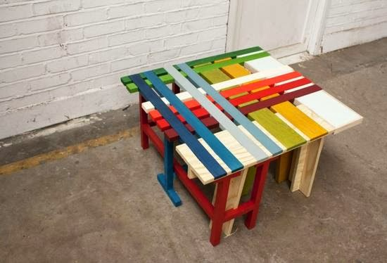 Ideas originales con palets de madera for Mesas con palets de madera