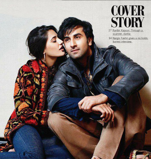  Nargis Fakhri filmfare Scan1 -  Nargis Fakhri &amp; Ranbir In Filmfare Magazine Stills